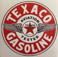 Texaco Aviation Gasoline Peel & Stick Vinyl Decal DEC-0150