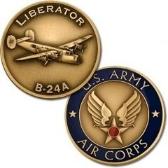 Consolidated B-24D Liberator U. S. Army Air Corps Challenge Coin NTM-61024