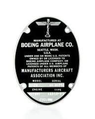 Boeing B-29 Superfortress Data Plate DPL-0102