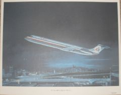 """Hometown International"" Lithograph, American Airlines DC-9 ART-0112"
