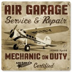 "Lockheed Vega ""Air Garage"" Metal Sign SIG-0154"