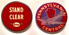 Pin Back Buttons- 1930s Aviation Grouping of Two Pin Backs GRP-0201