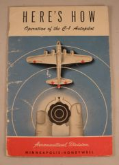 Original 1944 C-1 Autopilot Operation Manual LIT-0116