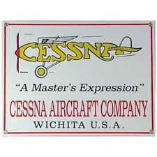 Cessna Aircraft Company Porcelain Metal Sign SIG-0140
