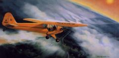 "Burt Mader Print ""Evening Joyride"" Piper J-3 Cub ART-0116"