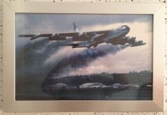 B-52 Stratofortress Water Injection Take Off Framed Photo ART-0108