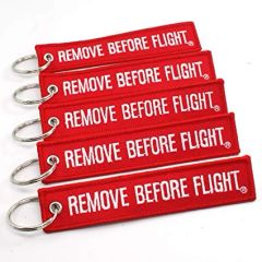 """Remove Before Flight"" Streamer keychain SET OF 5 MIS-0101-5"