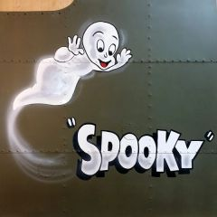 "NOSE ART PANEL- AC-47 Gunship, ""Spooky"", Vietnam NAP-0122"