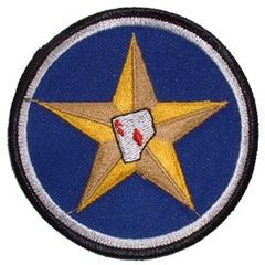 "Ace in a Star Embroidered USAAF/USAF Shoulder Patch, 3"" PAT-0107"