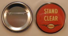 """Wholesale Lot of 125 """"Esso, Stand Clear"""" Buttons, Aviation, Oil Co. BTN-0115-125"""