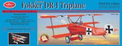 Guillow's Fokker DR-1 Triplane Balsa Wood Model Airplane Kit GUI-204