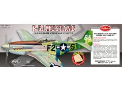 Guillow's North American Aviation P-51 Mustang Balsa Wood Model Airplane Kit GUI-402