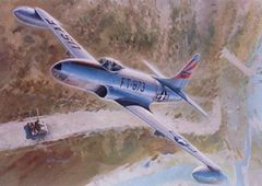 Keith Ferris Print, P-80/F-80 Shooting Star