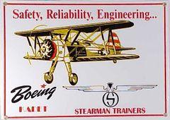 Boeing Stearman Porcelain Metal Sign SIG-0195