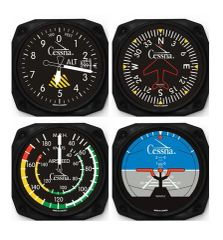 4-Piece Cessna Aircraft Instrument Inspired Coaster Set ORB-0117