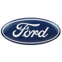 Big Ford Blue Oval Hollow Contoured Metal Button Sign ORB-0101