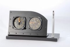 Cockpit Style Alarm Clock Desk Display with Pen/Pencil Holder PI-0110