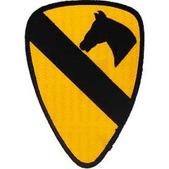 "1st Cavalry Division Embroidered Patch, 5 1/4"" PAT-0112"