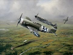 "Domenic DeNardo Print, P-47 Thunderbolt ""Steadfast Against All Odds"""