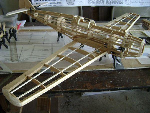 Guillow S Messerschmitt Bf 109 Balsa Wood Model Airplane