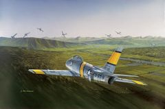"Ross Buckland Print, F-86 Sabre ""Shooter's Odds"""