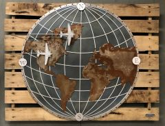 Large Rustic Wall Art, First Around the World PI-0111