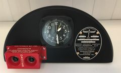 Boeing B-17 Flying Fortress Radio Destruct Switch Box/Clock Display I-PI-0101
