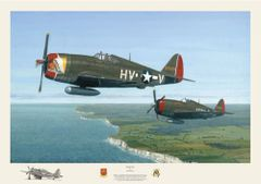 "David Gray Print, P-47 Thunderbolt ""Deadly Duo"" GRY-12"