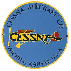 """Cessna Aircraft Co."" Porcelain Metal Sign SIG-0164"