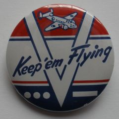 """""""V-for Victory"""" Pin Back Button BTN-0104"""