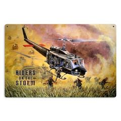 "Bell HU-1 Huey (Iroquois) Viet Nam ""Riders on the Storm"" Metal Sign SIG-0132"