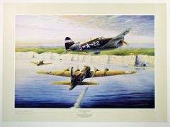 "Michael Short Print, B-17 & P-47 ""Answered Prayers"""