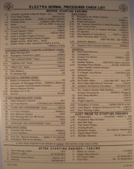 American Airlines Lockheed Electra Checklist CKL-0107