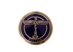 """Boeing System Embossed Emblem, 4"""" EMB-0101"""