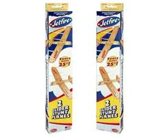 Jetfire Twin Packs (2 Packs) = 4 Balsa Wood Toy Planes by Guillow's GRP-0131