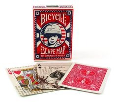 Bicycle® Escape Map WWII Commemorative Playing Cards PC-1026623
