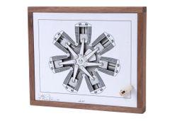 Radial Engine, Kinetic Art by Bradley N. Litwin ART-0115