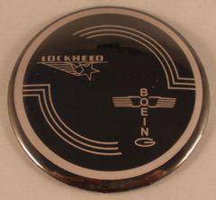 Lot of 36 Lockheed Built B-17 Flying Fortress Control Yoke Hub Pin Back Buttons BTN-0117-36
