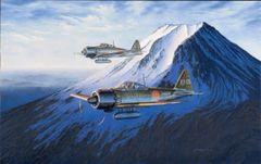 "Ross Buckland Print, A6M52C Zero ""The Guardians"""