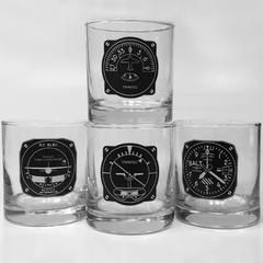 4-Piece Aircraft Instrument Whiskey Tumblers MIS-0118