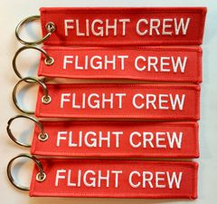 "5 Pieces Luggage Tags- ""Flight Crew"" KEY-0203-5"