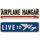 Aviation and Flight Tin Metal Sign Bundle - 2 Pilot Signs - GRP-0130