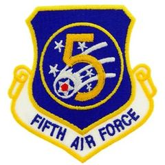 "5th Air Force Embroidered Shoulder Patch, 3"" PAT-0105"