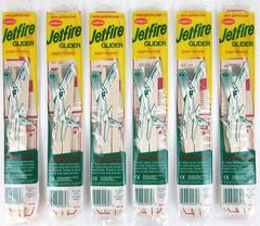 Lot of 6 Guillow's Jetfire Balsa Wood Toy Flying Airplanes GRP-0119