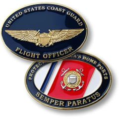 U.S. Coast Guard Flight Officer Challenge Coin NTM-60374