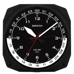 "10"" Dispatch Pilot's Flight Plan Office Dual Time Clock TRI-0105"