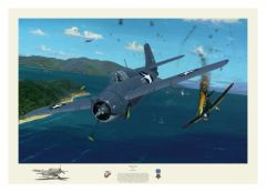 "David Gray Print, F4F Wildcat ""Wildcat Fury"" GRY-14"