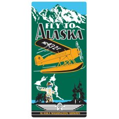 """Fly to Alaska"" Embossed Metal Sign AR-2040011"