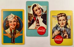 Three 1940s WW II Era Coca Cola Playing Cards GRP-0122