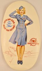Original Vintage TWA Luggage Label DEC-0128